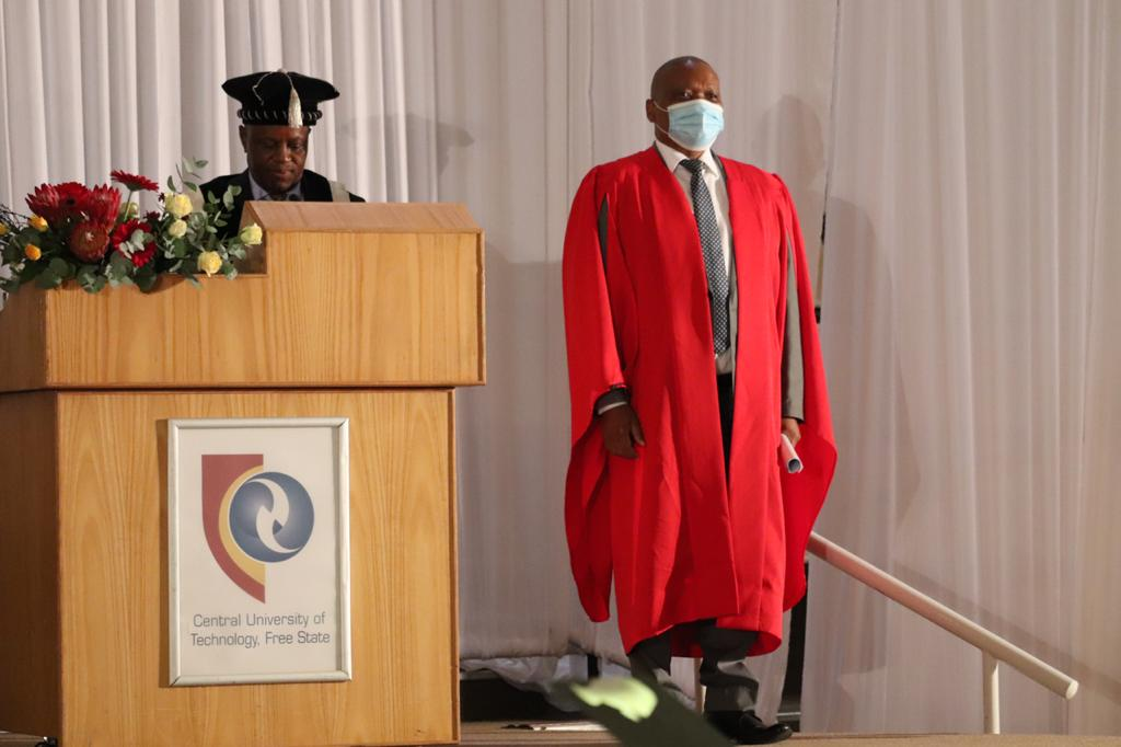 The Free State MEC for Education, Dr Tate Makgoe has been conferred the Chancellor's Excellence Award by the Central University of Technology, Free State (CUT) for his 'sterling' leadership excellence and 'immense' contribution to the advancement of education and changing lives.