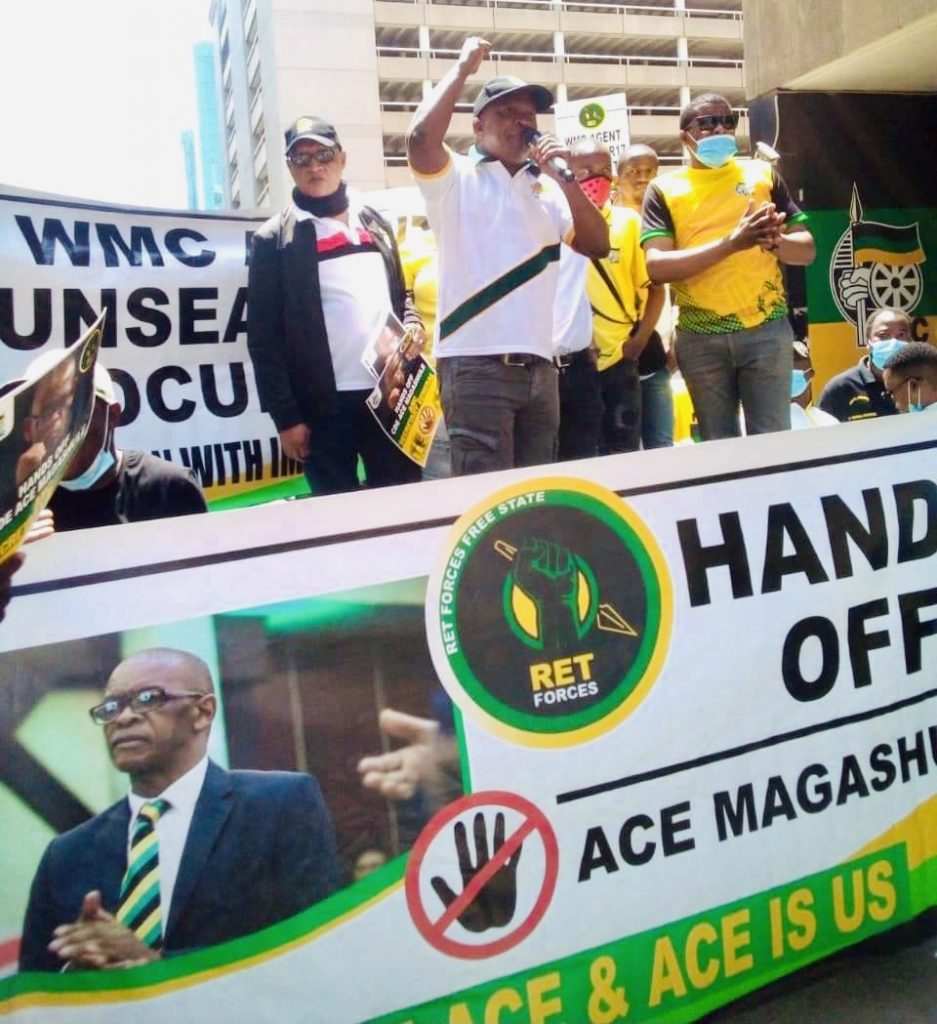 The South African National Civic Organisation (SANCO) in the Free State province says that the recent suspension of the African National Congress (ANC) Secretary-General Ace Magashule by the National Working Committee is a confirmation that the white monopoly capital is in charge of the ANC.