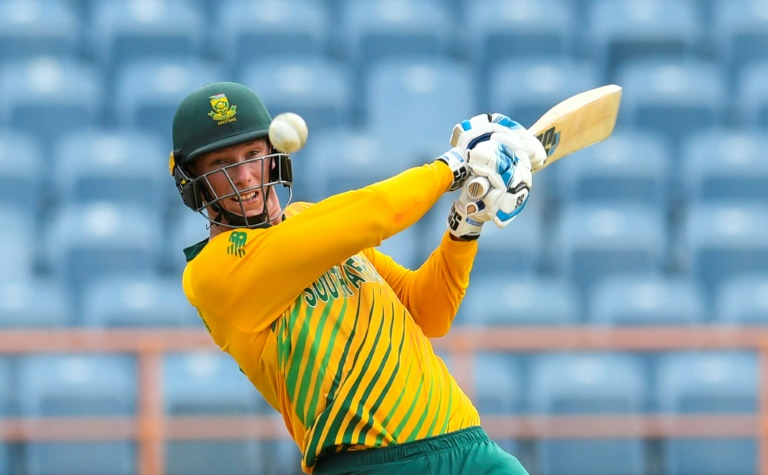 Evin Lewis led a rampaging assault by the West Indies as they made a mockery of a potentially tricky target of 161 in an eight-wicket victory with five overs to spare in the opening fixture of their five-match T20 series against South Africa on Saturday.